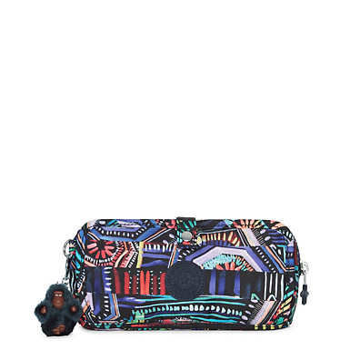 Wolfe Roll-Up Pencil-Makeup Pouch - Graffiti Waves