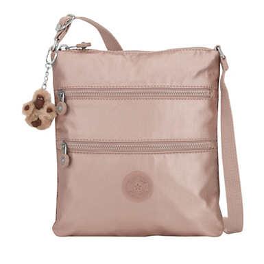 키플링 Kipling KeikoMetallic Mini Bag,Rose Gold Metallic