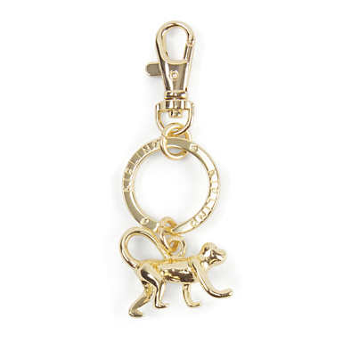 Crawling Monkey Key Charm - Gold