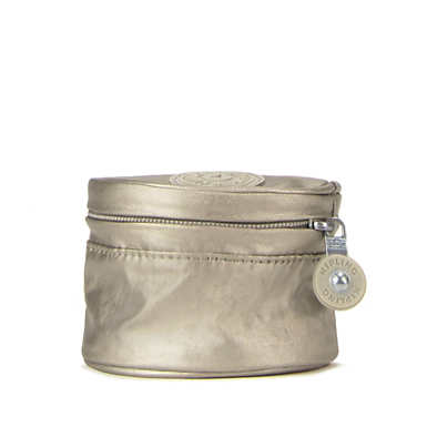 Sheena Metallic Travel Jewerly Pouch - Metallic Pewter