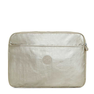 "13"" Metallic Laptop Sleeve - Silver Beige"