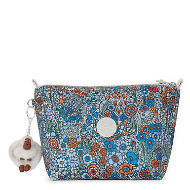 Moa Large Printed Pouch - Loopy Flowers
