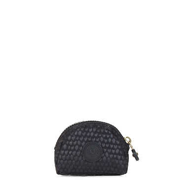 Trix Coin Purse - Black Scale EMB