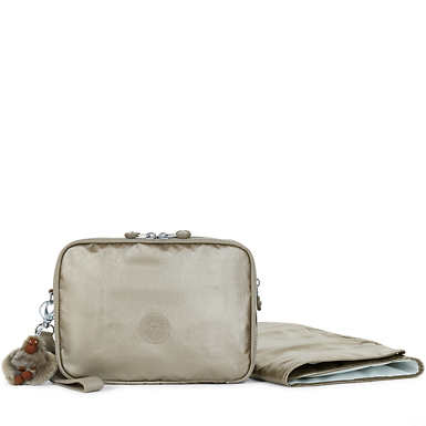 Zimma Metallic Diaper Changing Pad Clutch - Metallic Pewter
