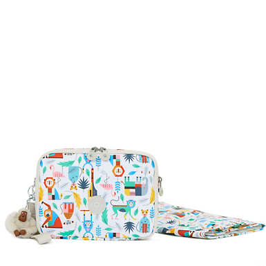 Zimma Printed Diaper Changing Pad Clutch - Bundle Of Love