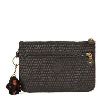 Ness Embossed Small Pouch - Black Scale EMB