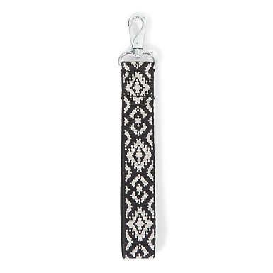 Geometric Wristlet Strap - Black