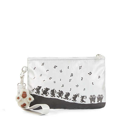 Disney's Snow White Sweetie Small Metallic Wristlet Pouch - Platinum Metallic