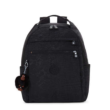 Micah Printed Medium Laptop Backpack - Black Croc