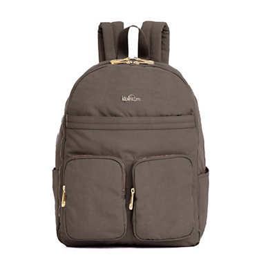 """키플링 Kipling Tina Large 15"""" Laptop Backpack,Bran Patent Combo"""