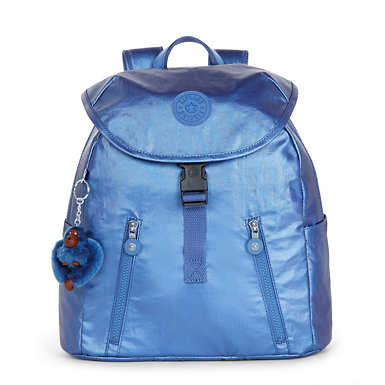 Zakaria Medium Metallic Backpack - Scuba Diver Blue Metallic