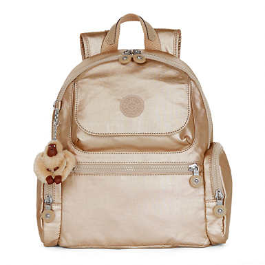 Matta Small Metallic Backpack - Toasty Gold