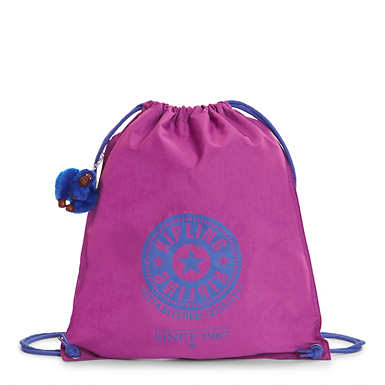 Emjay Drawstring Backpack - Purple Garden