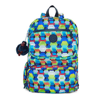 Dawson Large Printed Laptop Backpack - Cheerful Sun