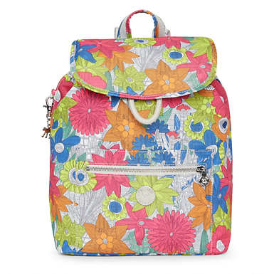 Karita Small Printed Backpack - Floral Carnation