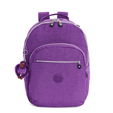 Seoul Large Laptop Backpack - Purple Feather