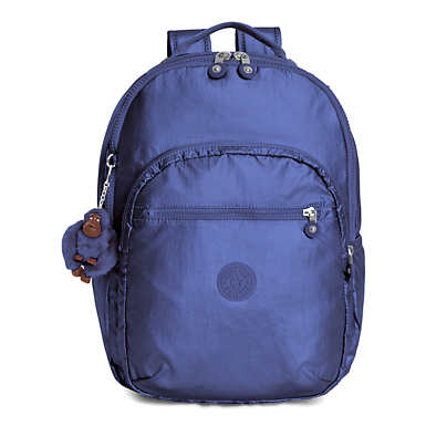 Seoul Large Metallic Laptop Backpack - Enchanted Purple Metallic