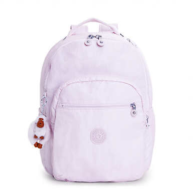 Seoul Large Metallic Laptop Backpack - Whimsical Pink