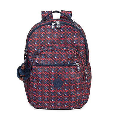 Seoul Large Printed Laptop Backpack - Groovy Lines