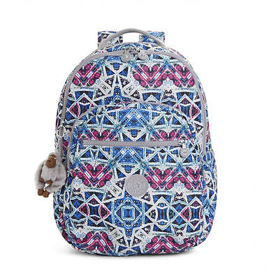 Seoul Large Printed Laptop Backpack - Brightside Sky