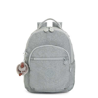 Seoul Small Metallic Backpack - Silver Glimmer Metallic