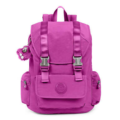 Siggy Large Laptop Backpack - Purple Garden