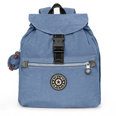 키플링 Kipling Keeper Backpack,Blue Jean