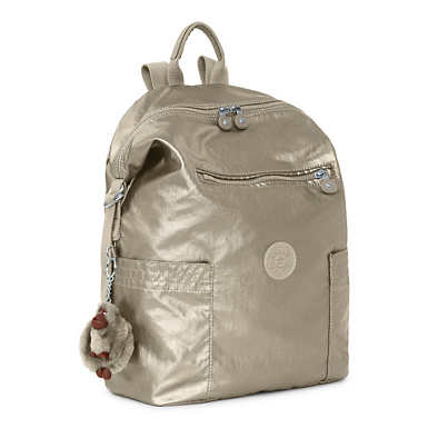 Cherry Metallic Backpack - Metallic Pewter