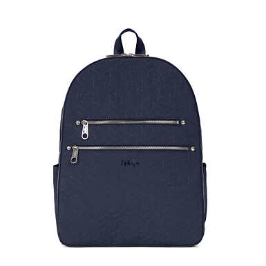 Tina Large Quilted Laptop Backpack - True Blue