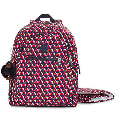 Bizzy Boo Printed Backpack Diaper Bag - Funky Triangle