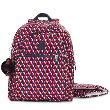 키플링 비지 부 프린트 백팩 - 펑키 트라이앵글 Kipling Bizzy Boo Printed Backpack Diaper Bag,Funky Triangle