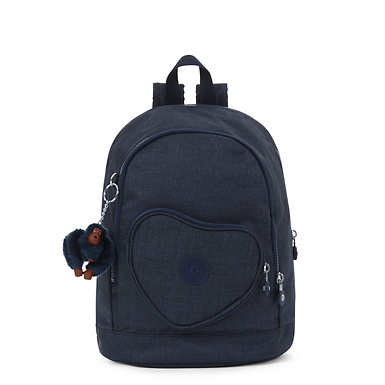 Heart Small Kids Backpack - Jeans True Blue