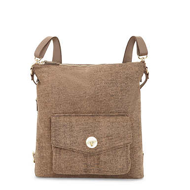 Makai Covertible Backpack Handbag - Cafe Latte Beige