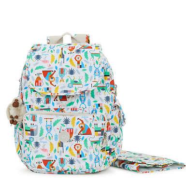 키플링 잭스 프린트 다이퍼 백팩 - 버들 오브 러브 Kipling Zax Printed Backpack Diaper Bag,Bundle Of Love