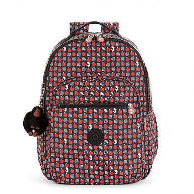 Disney's Snow White Seoul Large Printed Laptop Backpack - undefined