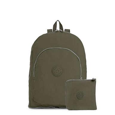 키플링 Kipling Earnest Foldable Backpack,Jaded Green