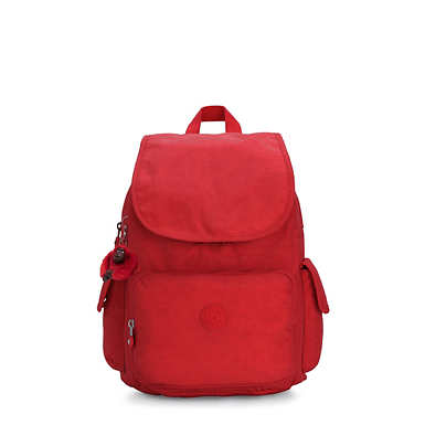 키플링 Kipling City Pack Backpack,Cherry T