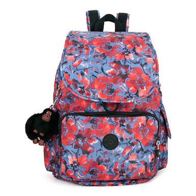 키플링 Kipling City Pack Printed Backpack,Festive Floral