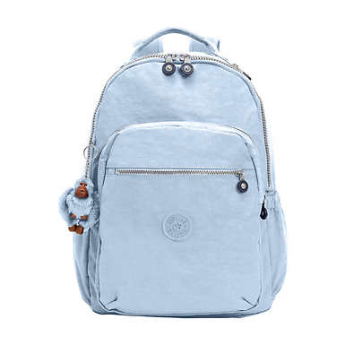 """키플링 Kipling Seoul Go Large 15"""" Laptop Backpack,Cozy Blue"""