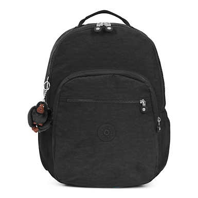 키플링 Kipling Seoul GoExtra Large Laptop Backpack,Black Tonal Zipper