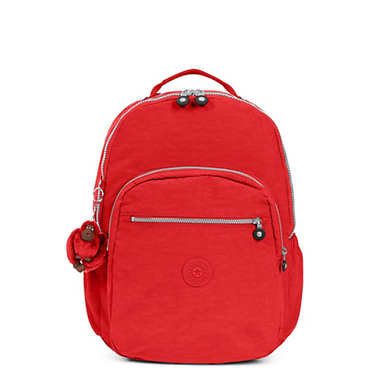 키플링 Kipling Seoul Go Extra Large Laptop Backpack,Cherry