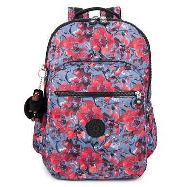 """키플링 Kipling Seoul Go Extra Large Printed 15"""" Laptop Backpack,Festive Floral"""