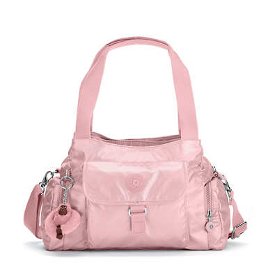 Felix Large Metallic Handbag - Icy Rose Metallic