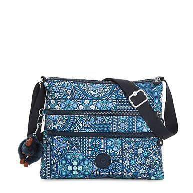 Alvar Printed Crossbody Bag - Dizzy Darling Blue