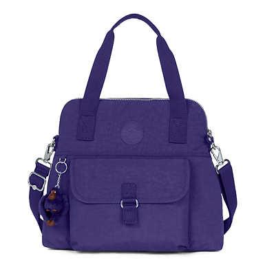 키플링 Kipling Pahneiro Handbag,Berry Blue