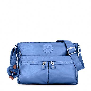 Angie Metallic Crossbody Bag - Metallic Scuba Diver Blue