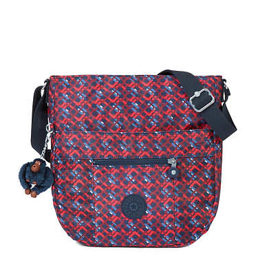 Bailey Printed Saddle Bag Handbag - Groovy Lines