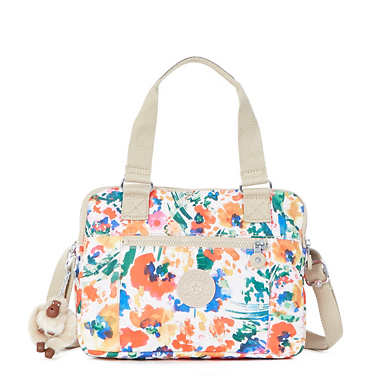 Brent Printed Double Compartment Handbag - Floral Night Natural