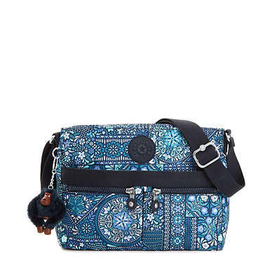 Angie Printed Handbag - Dizzy Darling Blue