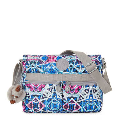 Angie Printed Handbag - Brightside Sky